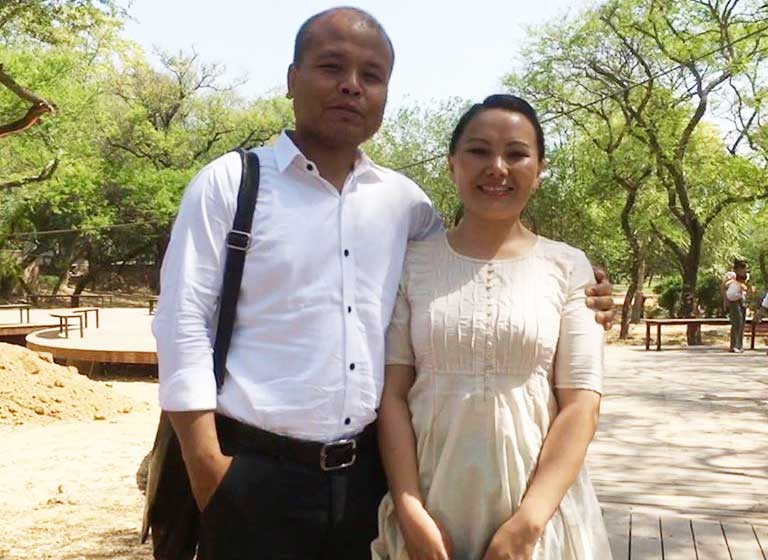 Pastor Heli and his wife